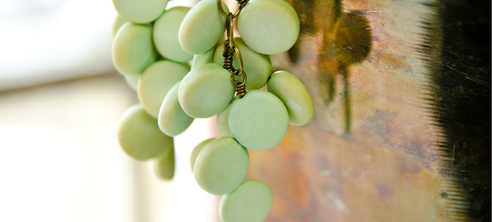 Green Grapevine Earrings