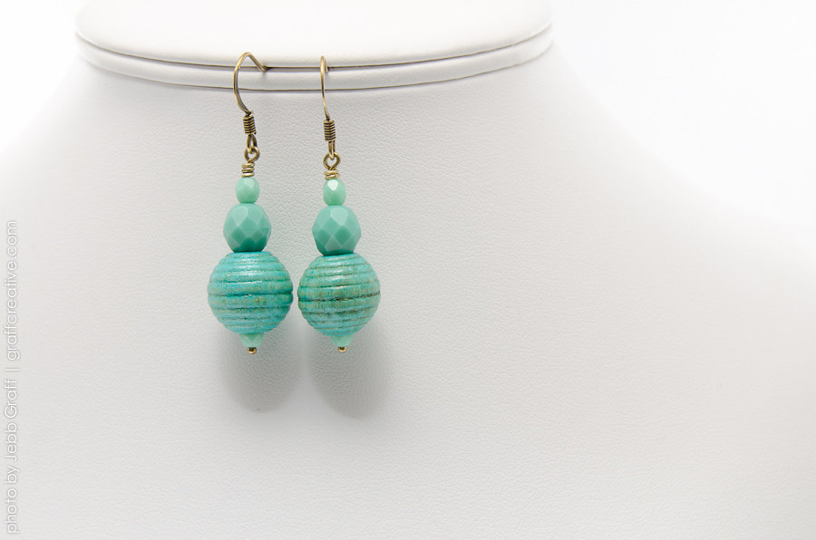 A Day at the Beach – Turquoise Colored Earrings