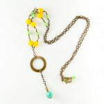 Spring Green and Yellow Beaded Necklace