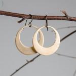 Brass Hoop Dangle Earrings