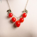 Red Glass Berry Necklace