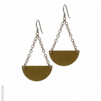 Half Circle Dangle Earrings by Bevan Designs