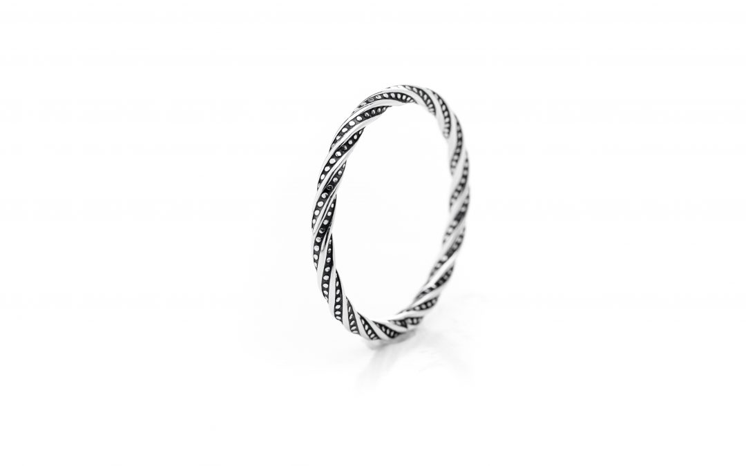 Twisted Stackable Ring – Sterling Silver